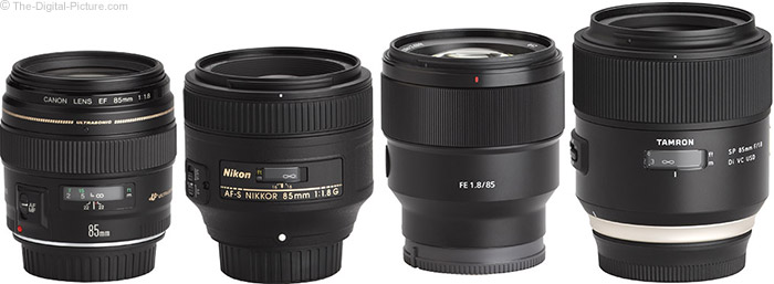 Sony FE 85mm f/1.8 Lens Compared to Similar Lenses