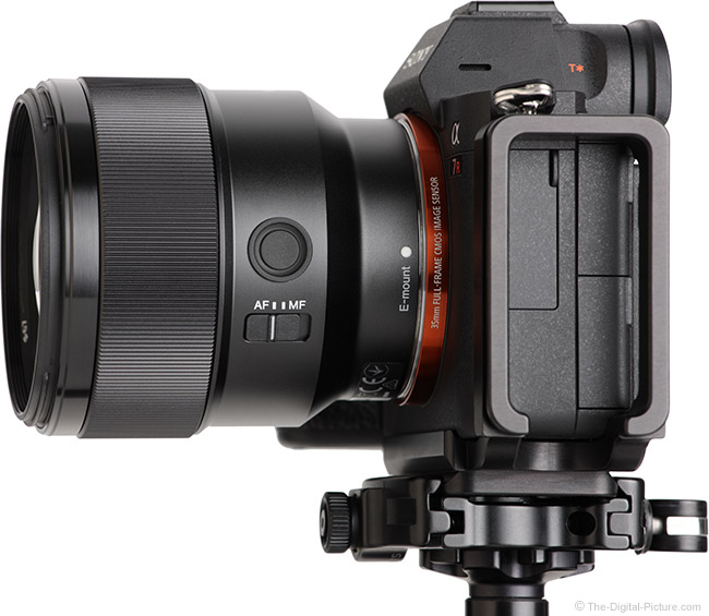 Sony FE 85mm f/1.8 Lens Side View