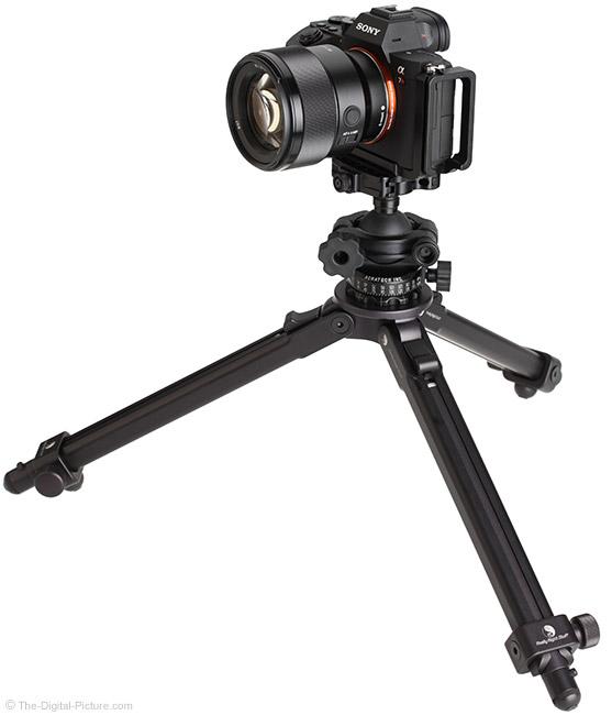 Sony FE 85mm f/1.8 Lens on Tripod