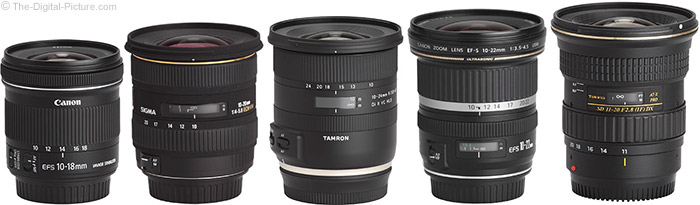 Tamron 10-24mm f/3.5-4.5 Di II VC HLD Lens Compared to Similar Lenses
