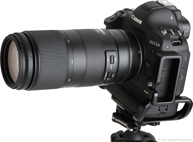 Tamron 100-400mm f/4.5-6.3 Di VC USD Lens Angle View