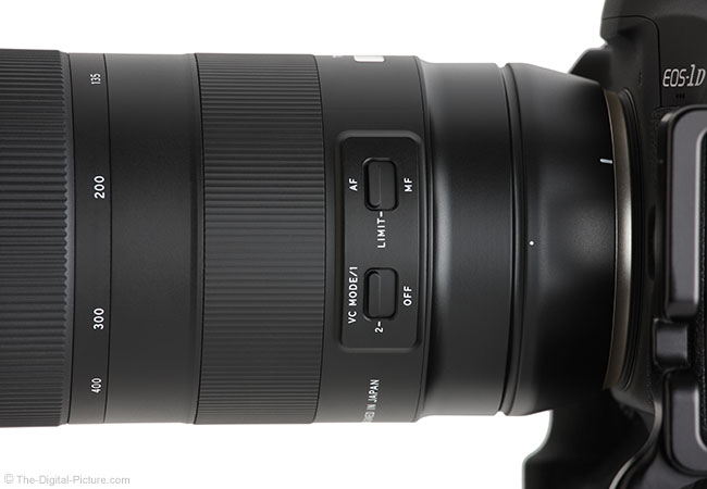 Tamron 100-400mm f/4.5-6.3 Di VC USD Lens Switches