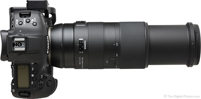 Tamron 100-400mm f/4.5-6.3 Di VC USD Lens Extended Top View