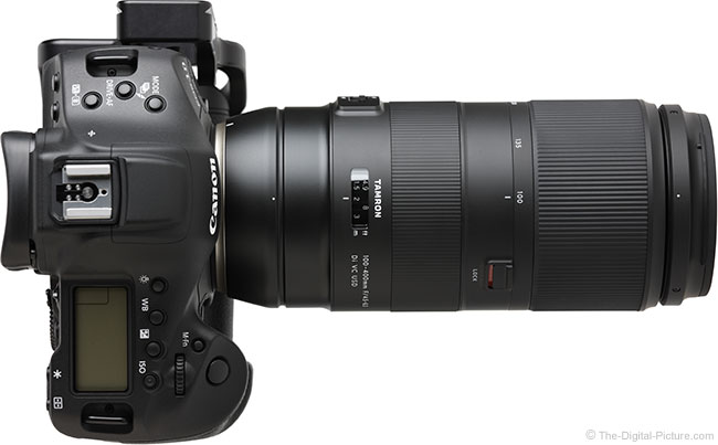Tamron 100-400mm f/4.5-6.3 Di VC USD Lens Top View