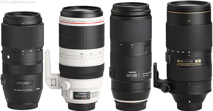 Tamron 100-400mm f/4.5-6.3 Di VC USD Lens Compared to Similar Lenses