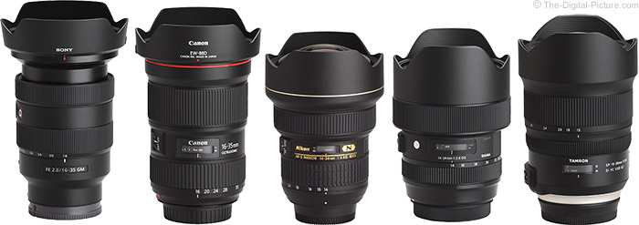 Tamron 15-30mm f/2.8 Di VC USD G2 Lens Compared to Similar Lenses with Hoods