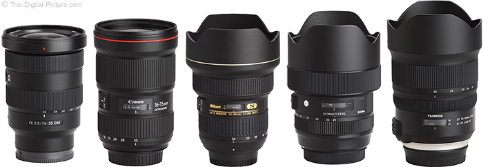 Tamron 15-30mm f/2.8 Di VC USD G2 Lens Compared to Similar Lenses