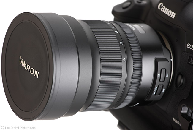 Tamron 15-30mm f/2.8 Di VC USD G2 Lens Cap Installed on Lens