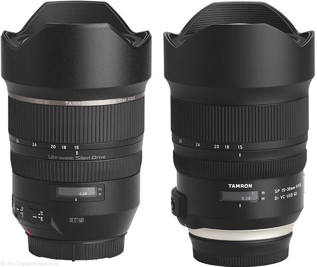 Tamron 15-30mm f/2.8 Di VC USD G1 vs. G2 Lens