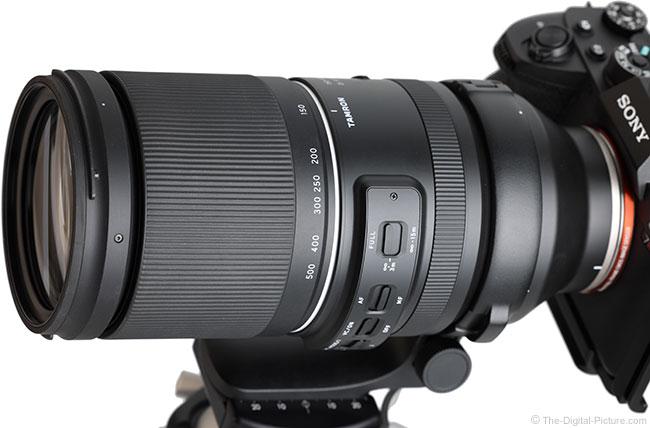 Tamron 150-500mm f/5-6.7 Di III VC VXD Lens Angle View