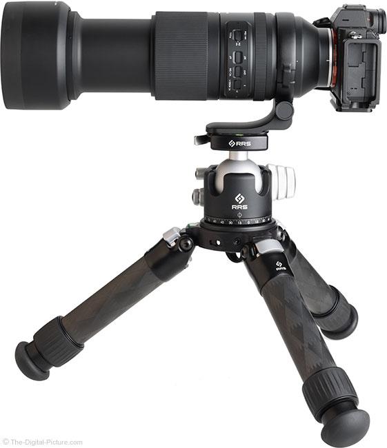 Tamron 150-500mm f/5-6.7 Di III VC VXD Lens on Tripod