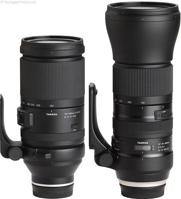 Tamron 150-500mm f/5-6.7 Di III VC VXD Lens Compared to  150-600mm f/5-6.3 Di VC USD G2 Lens
