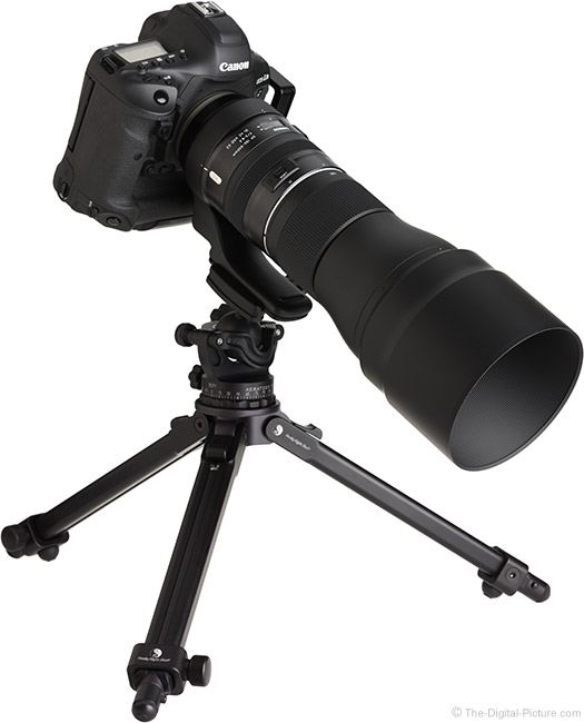 Tamron 150-600mm f/5-6.3 Di VC USD G2 Lens Angle View with Hood
