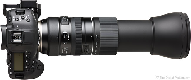 Tamron 150-600mm f/5-6.3 Di VC USD G2 Lens Top View Extended