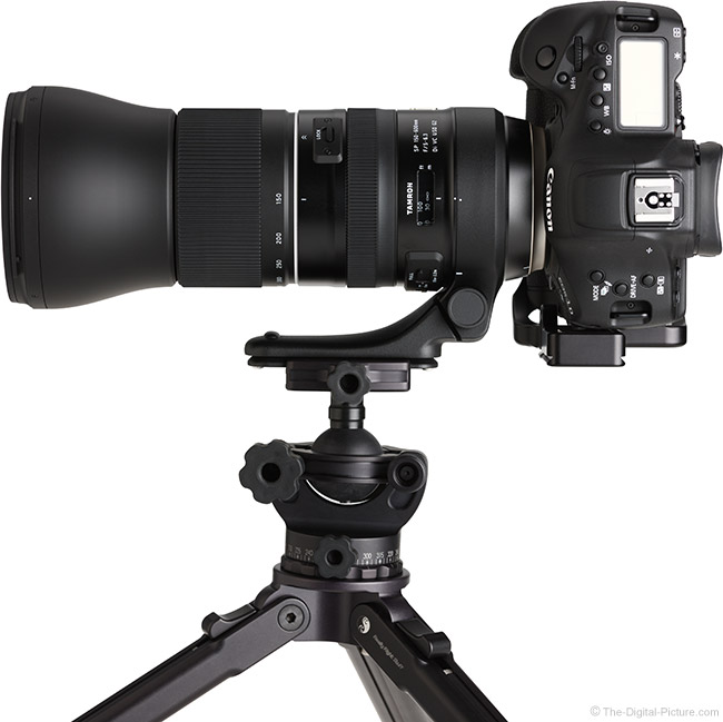 Tamron 150-600mm f/5-6.3 Di VC USD G2 Lens Rotated Top View