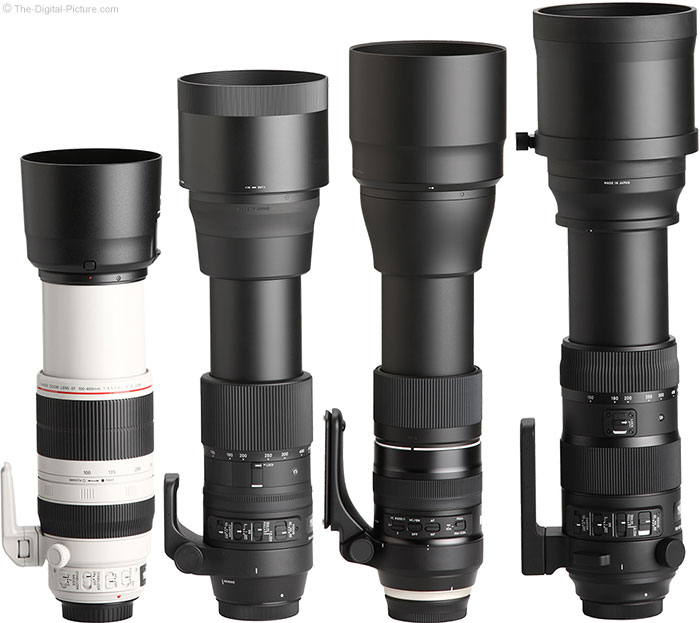 Tamron 150-600mm f/5-6.3 Di VC USD G2 Lens Compared to Similar Lenses with Hoods