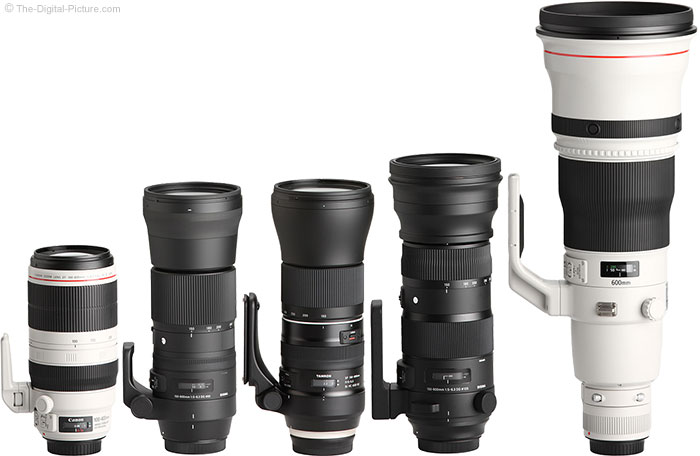 Tamron 150-600mm f/5-6.3 Di VC USD G2 Lens Compared to Similar Lenses