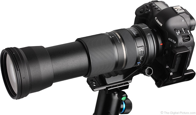 Tamron 150-600mm VC Lens Angle View, Extended
