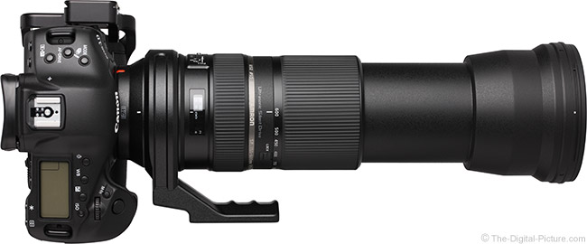 Tamron 150-600mm VC Lens Extended on Camera