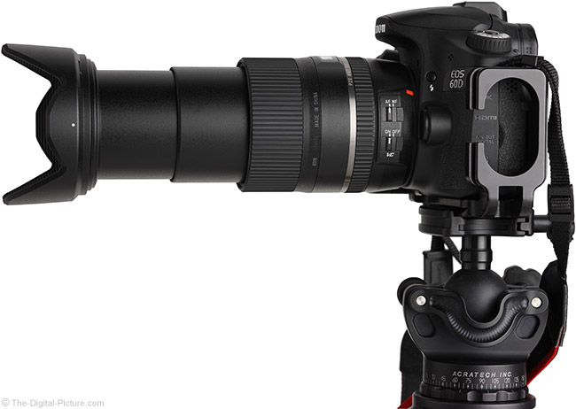 Tamron 16-300mm f/3.5-6.3 Di II VC PZD Lens Side View - Extended with Hood