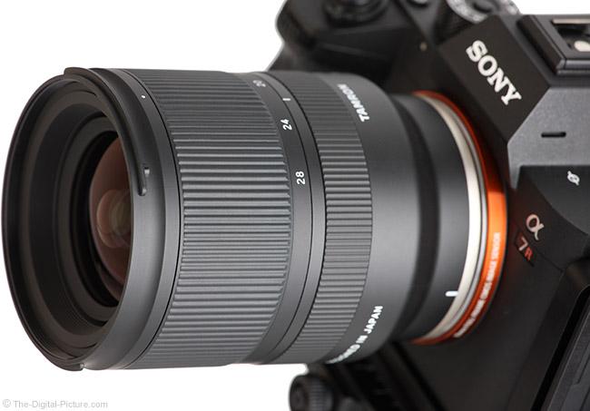 Tamron 17-28mm f/2.8 Di III RXD Lens Angle View