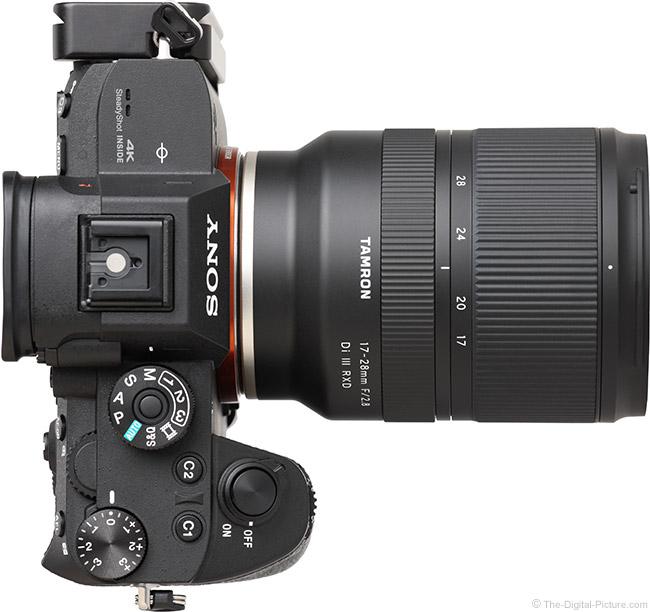 Tamron 17-28mm f/2.8 Di III RXD Lens Top View