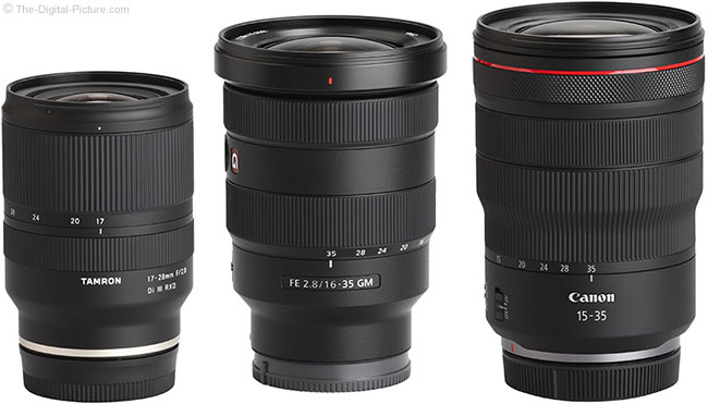 Tamron 17-28mm f/2.8 Di III RXD Lens Compared to Similar Lenses