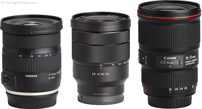 Tamron 17-35mm f/2.8-4 Di OSD Lens Compared to Similar Lenses