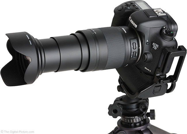 Tamron 18-400mm f/3.5-6.3 Di II VC HLD Lens Angle View Extended with Hood