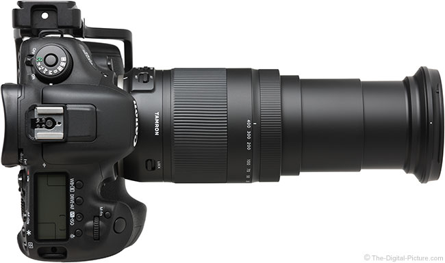 Tamron 18-400mm f/3.5-6.3 Di II VC HLD Lens Extended Top View
