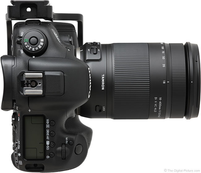 Tamron 18-400mm f/3.5-6.3 Di II VC HLD Lens Top View