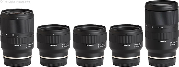 Tamron 20mm f/2.8 Di III OSD M1:2 Lens Compared to Similar Lenses