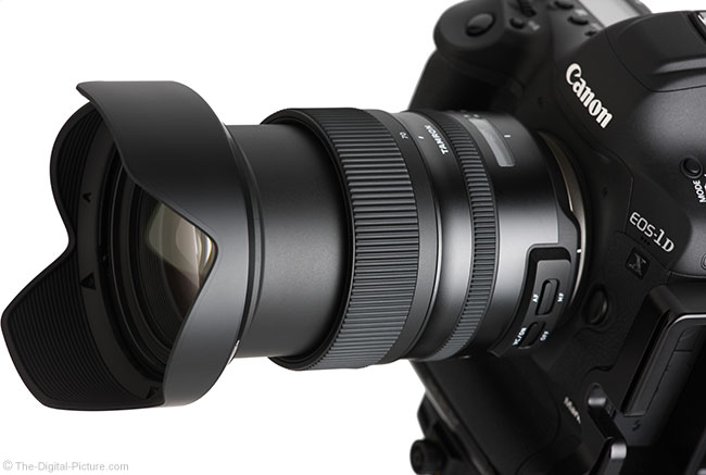 Tamron 24-70mm f/2.8 VC G2 Lens Angle View Extended with Hood