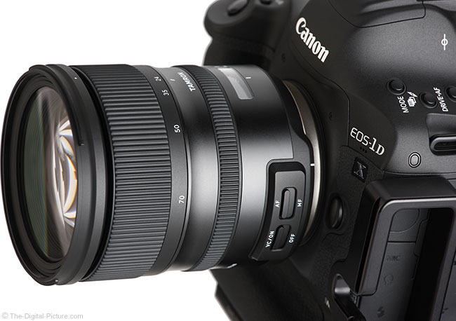 Tamron 24-70mm f/2.8 VC G2 Lens Angle View