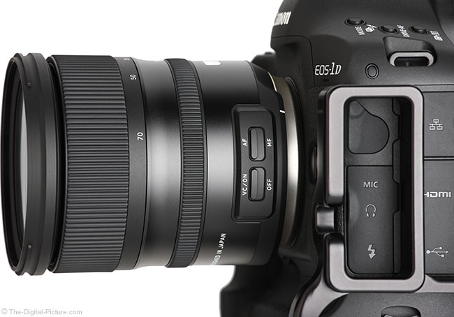 Tamron 24-70mm f/2.8 VC G2 Lens Side View