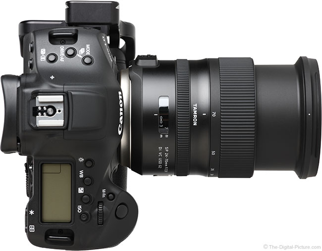 Tamron 24-70mm f/2.8 VC G2 Lens Extended Top View