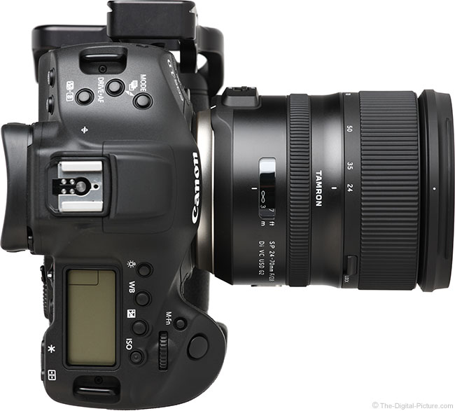 Tamron 24-70mm f/2.8 VC G2 Lens Top View