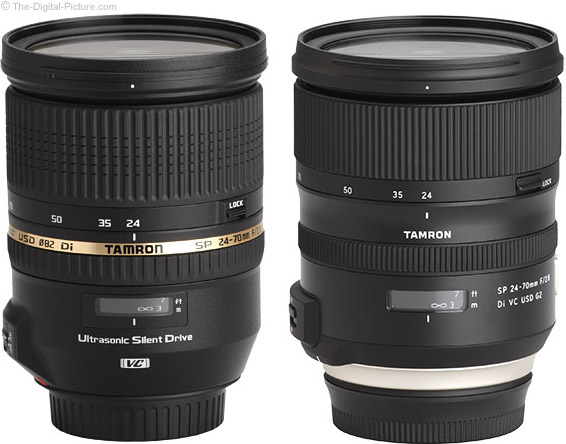 Tamron 24-70mm f/2.8 VC G2 Lens vs. Prior Model