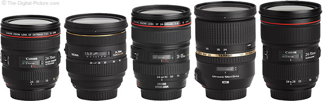 Canon, Tamron and Sigma 24-70mm Lenses