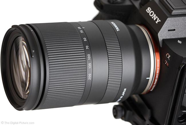 Tamron 28-200mm f/2.8-5.6 Di III RXD Lens Angle View