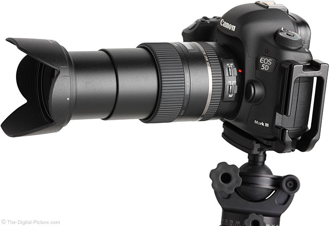 Tamron 28-300mm VC PZD Lens Angle View Extended with Hood