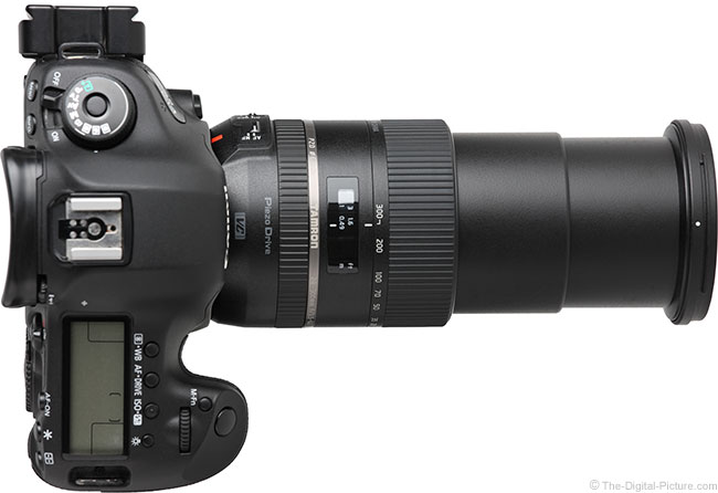 Tamron 28-300mm VC PZD Lens Top View Extended