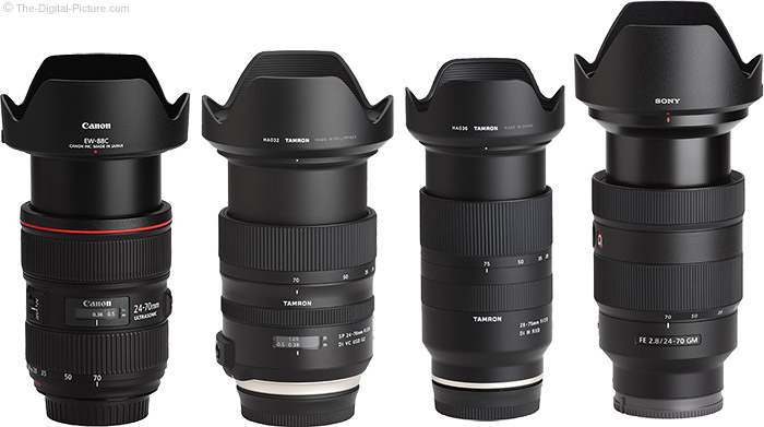 Tamron 28-75mm f/2.8 Di III RXD Lens Compared to Similar Lenses with Hoods