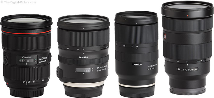 Tamron 28-75mm f/2.8 Di III RXD Lens Compared to Similar Lenses