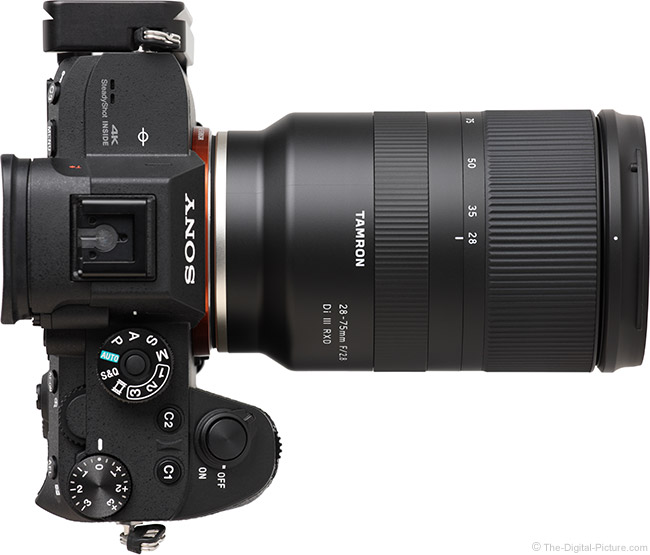 Tamron 28-75mm f/2.8 Di III RXD Lens Top View