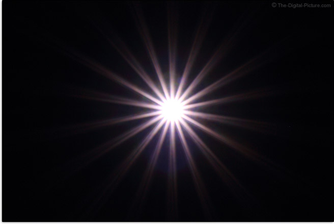 Tamron 35-150mm f/2.8-4 Di VC OSD Lens Starburst Effect Example