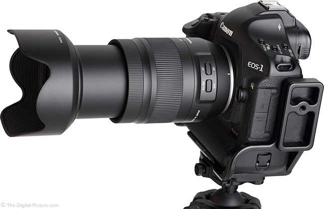 Tamron 35-150mm f/2.8-4 Di VC OSD Lens Angle View Extended with Hood