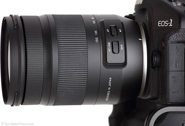 Tamron 35-150mm f/2.8-4 Di VC OSD Lens Side View