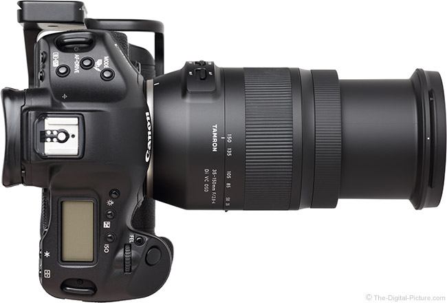 Tamron 35-150mm f/2.8-4 Di VC OSD Lens Extended Top View