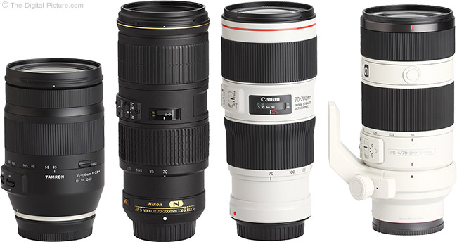 Tamron 35-150mm f/2.8-4 Di VC OSD Lens Compared to Similar Lenses